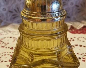Amber Avon Capitol perfume bottle - empty