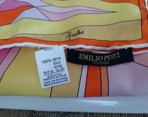 Emilio Pucci Geometric pattern Vintage Silk Scarf