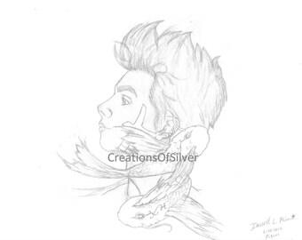 Pisces Boy-Hand-drawn illustration