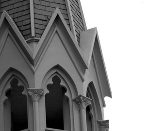 church steeple close up