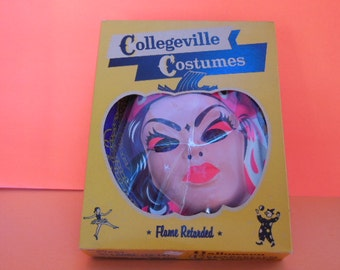1950's Collegeville Halloween Costume, Gypsy # 163 Child's Size Large (12-14), Complete with Mask and Original Box! Halloween Collectible