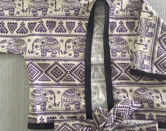 Elephant print kimono