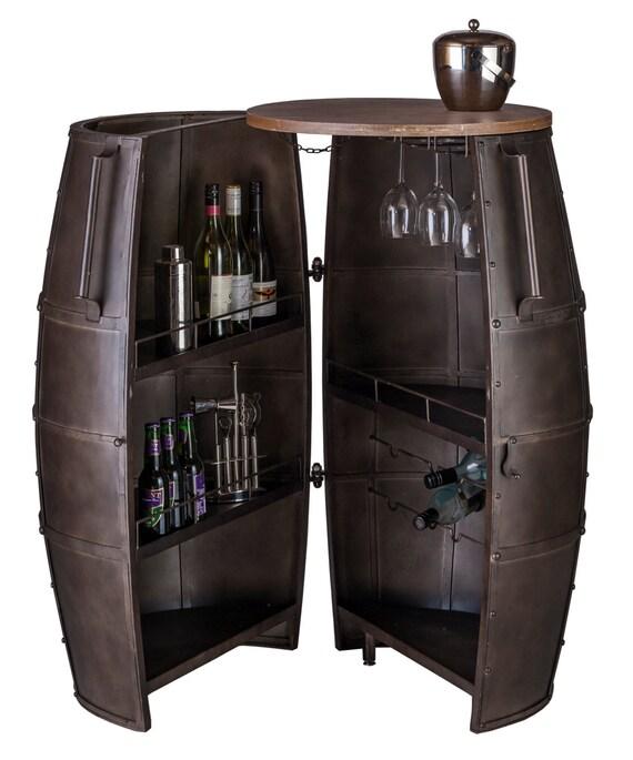bar meuble casier vin rangement alcool forg fer 80