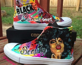 Black Queen Custom Converse