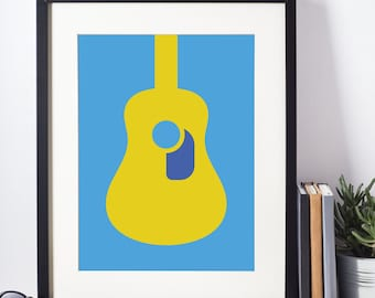 Poster Guitar Acoustic