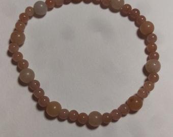 Orange cream bracelet