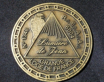 Medal of large Masonic lodges