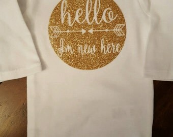 Children's New Here Onesie