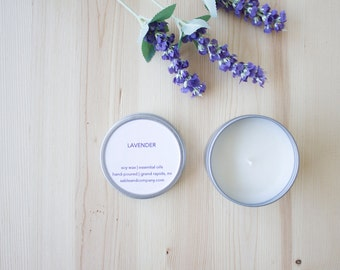 Lavender Essential-Oil Candle || minimal essential oil soy candle perfect summer gift home decor