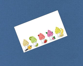 Blank Flat Place Cards, Cupcakes Design