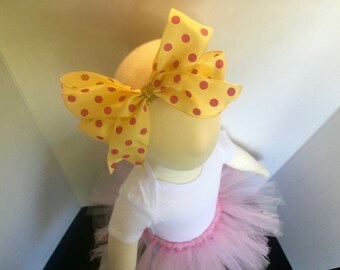 Yellow & Pink Polkadot Headband