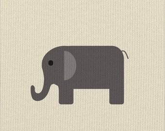 Safari Elephant Print