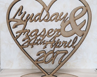 Personalised Laser Cut MDF Heart Plaque