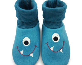 Baby shoes, leather sock Monster LS8