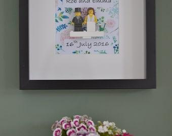 Handmade wedding celebration frame