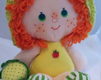 Vintage Strawberry Shortcake Rag Doll - Apple Dumplin'