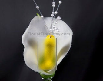 Calla Willy™ Calla Lily Penis Wedding Boutonniere Corsage Bachelor Bachelorette Party Silk Flower Accessory