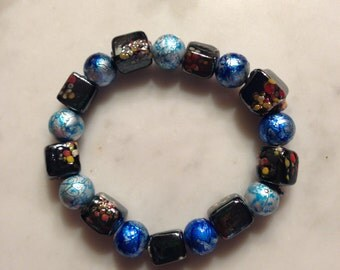 Tie-Dyed Blues Bracelet
