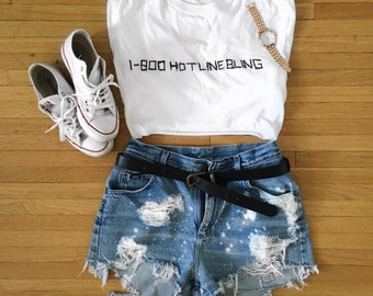 VERONICA high waisted denim shorts
