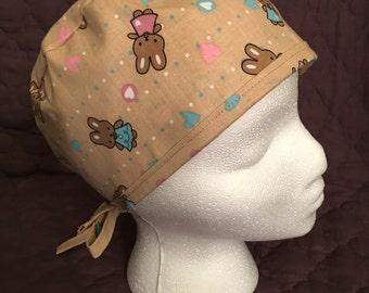 Brown Bunny Scrub Cap