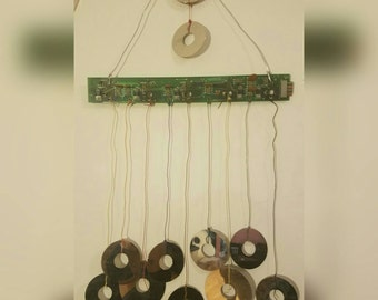 Upcycled Computer Parts Windchime