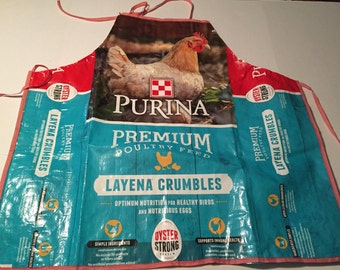 Chicken feed bag apron
