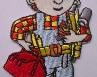 Bob the Builder Iron on Applique, Bob the Builder Iron on Patch, Iron-on Application