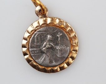 Vintage Saint Rita Medal - Help with Impossible Causes - Patron of Desperate Cases Abuse Victims and Unhappy Marriage (SD105)
