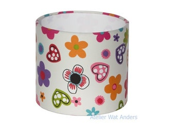 Lampshade, funny, hearts, flowers, kids room