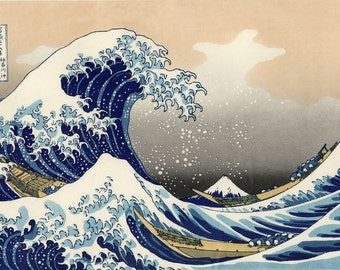 The Great Wave Off Kanagawa Katsushika Hokusai Japanese Art Picture Print A3 A4