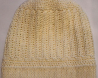 Crocheted Hat-Cream