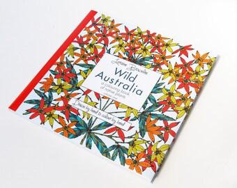 Wild Australia Adult Colouring Book