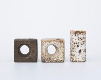 3 Vintage block vases Vest Ceramics