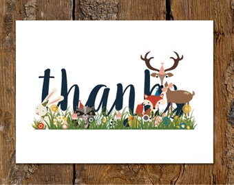Woodland Thank You Note Card