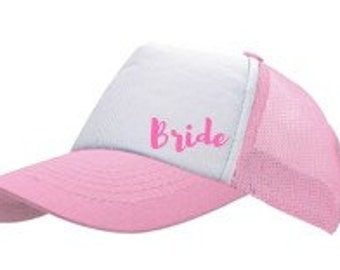 Bride - Embroidered  Cotton Front, Mesh Back Cap