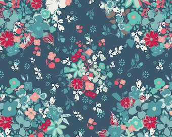 NouvElle, Pat Bravo, Sapphire, Art Gallery Fabric, Cotton Fabric, Designer Cotton, Half Yard