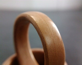 Bentwood Ring - Tasmanian Myrtle - Handcrafted - Custom Made