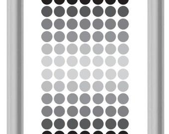 Monochrome Grey Circles