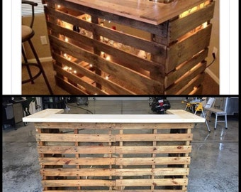 Pallet Bar with Lights