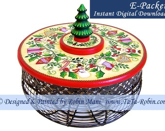 272E E-PACKET All Around the Tree Decorative Painting Pattern Digital - Instant Download