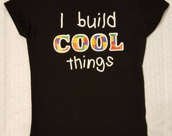 I build cool things kid's t-shirt