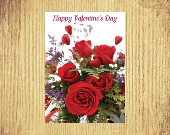 Red Roses for You ~ Valentine Card ~ 5 by 7 ~ Digital Download Only
