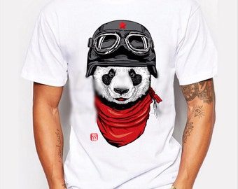 Red And Black Panda Men's T-shirt