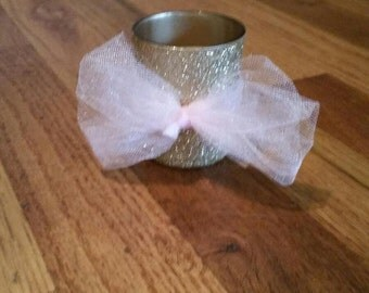 Pink and Gold Votive Holder