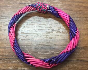 colorful straw bracelet (medium)