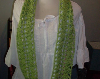 Guave Green Crocheted Scarf