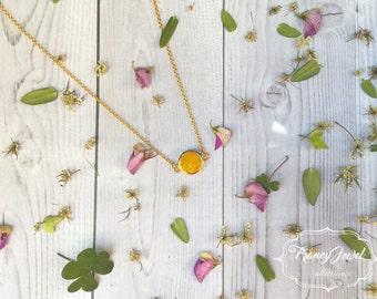Yellow quartz crystal necklace, citrine stone, precious stone, 18k gold plated, druzy, crystal pendant, wedding gift, bridesmaid gift