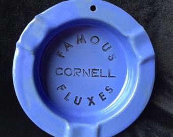 Vintage Enamel Metal Advertising Ashtray, Famous Cornell Fluxes, Cleveland, Ohio Industrial Advertising Ashtray