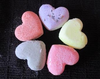 5 Heart Bath Bombs