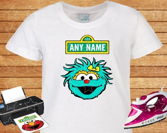 Any Name on T-shirt Rosita. Iron on Transfer, Instant Download, Rosita Sesame Street on T-shirt. Personalized T-shirt.